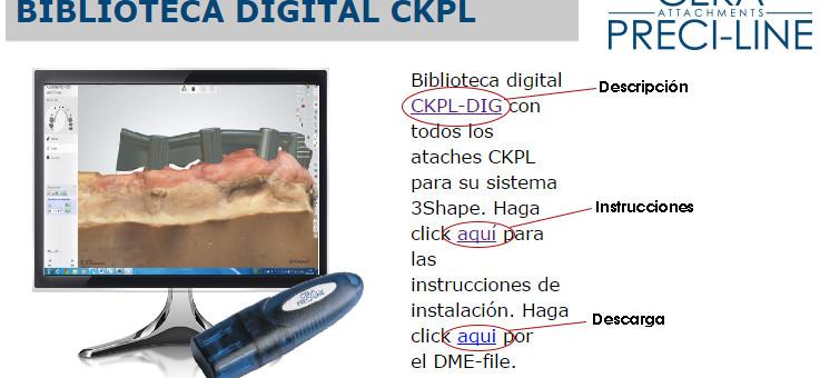 Biblioteca digital de Ceka Preci-line de Alphadent  para sistema de CAD 3Shape y Exocad prox.