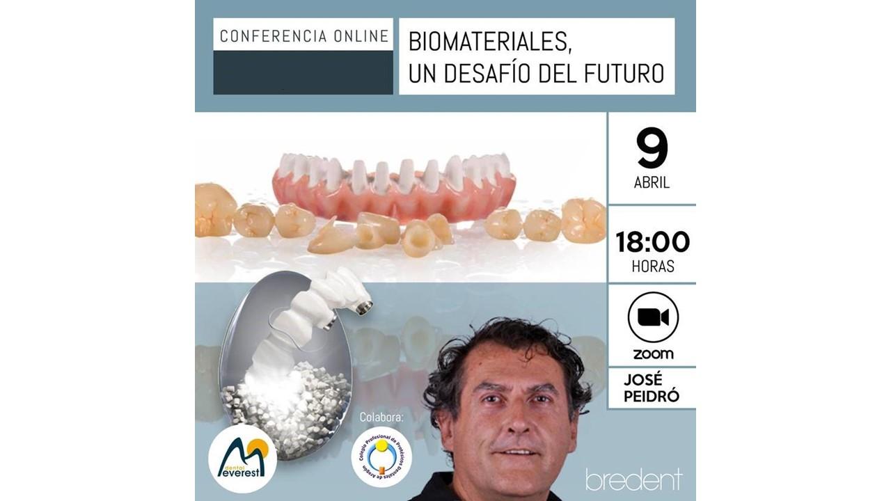 """Conferencia Virtual """"Biomateriales, un desafío del futuro"""" a cargo de José Peidró"""
